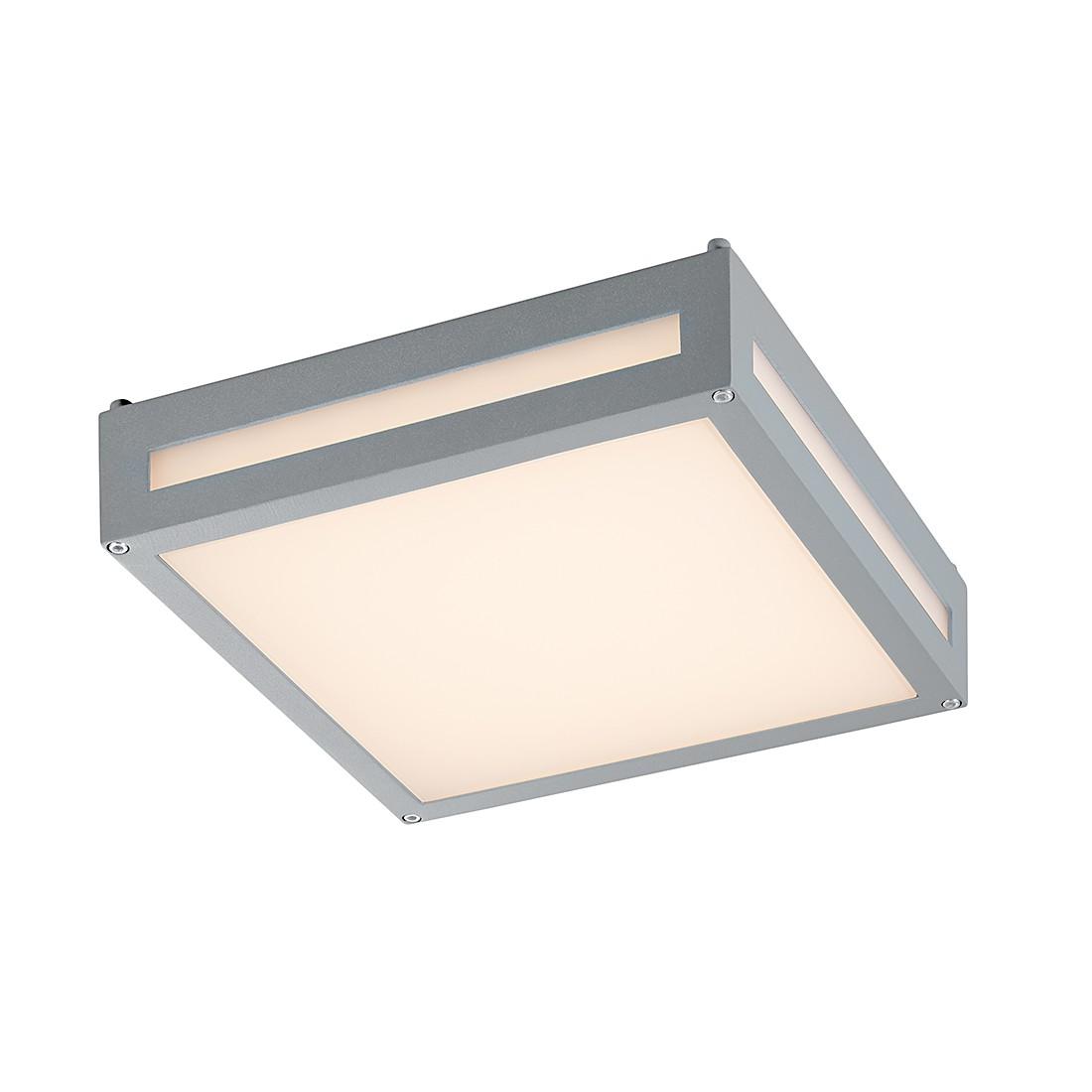 EEK A+, LED-Außenleuchte Newa 1-flammig - Aluminium Kunststoff - Silber, Trio
