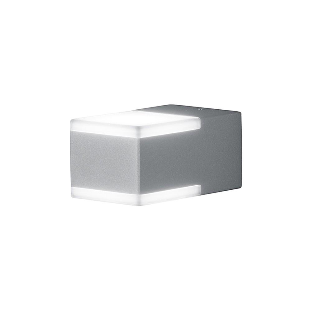 LED-Außenleuchte Don 2-flammig ● Aluminium Kunststoff ● Silber- Trio A+