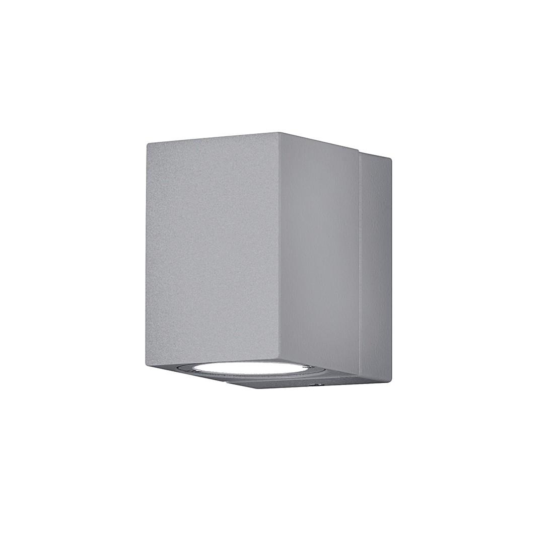 EEK A+, LED-Außenleuchte Tiber 1-flammig - Aluminium Kunststoff - Silber, Trio