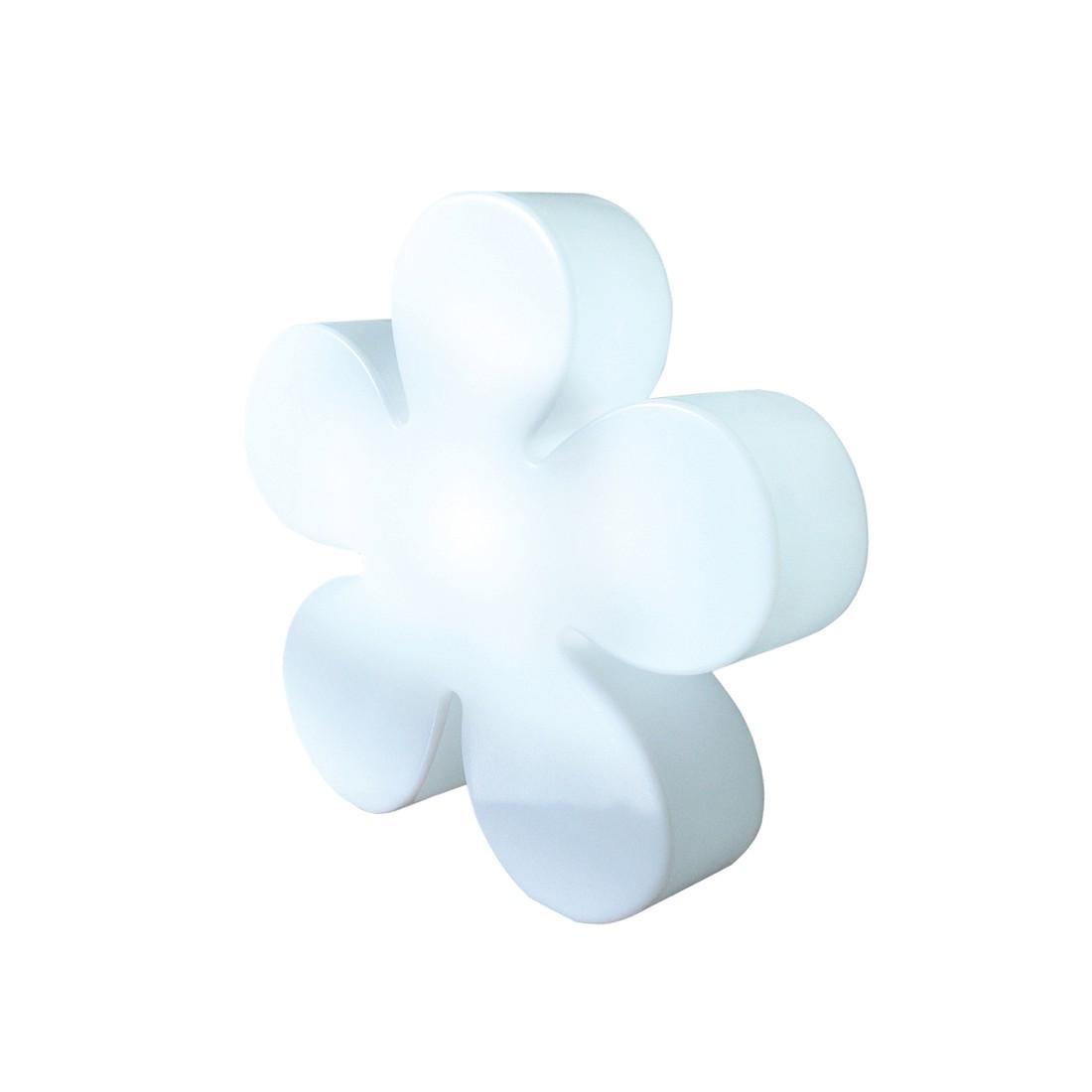 Aussenleuchte Blume 40cm - Kunststoff - Weiss, PureDay