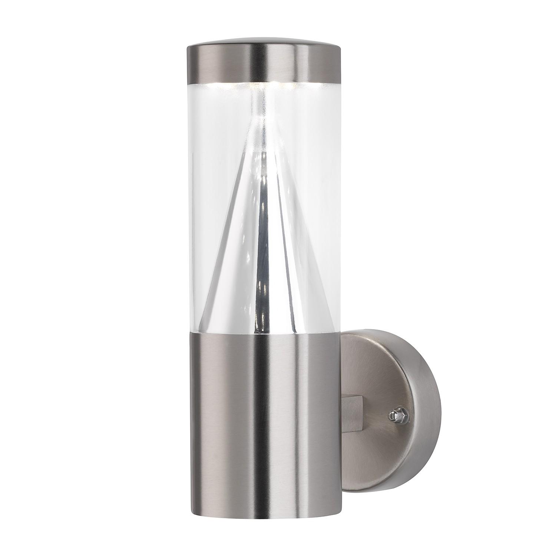EEK A+, Außenleuchte Central - Silber Metall, Action