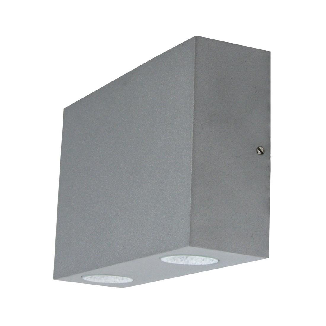 Außenleuchte Milo LED - Aluminium-Druckguss Silbergrau, Heitronic