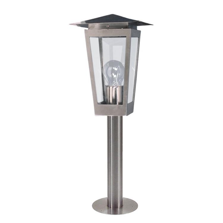 Außensockelleuchte Domus 52 1-flammig ● Silber Metall- Näve A++