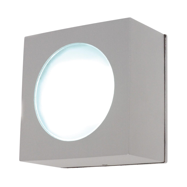 EEK A++, Außenwand- und Deckenleuchte Square 1-flammig - Silber Aluminium, Näve