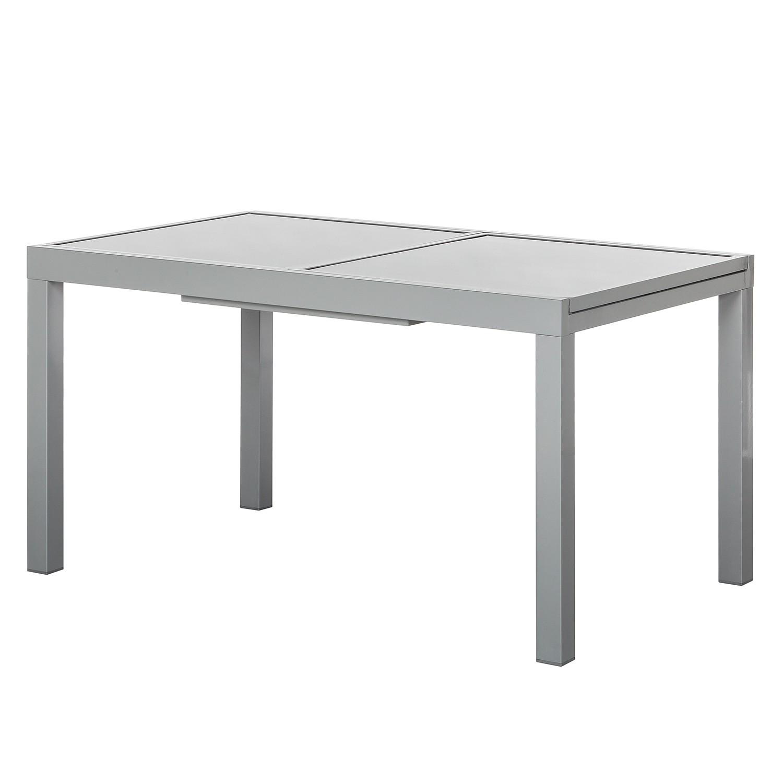 Ausziehtisch Amalfi VII - Aluminium/Glas - Silber/Grau, Merxx