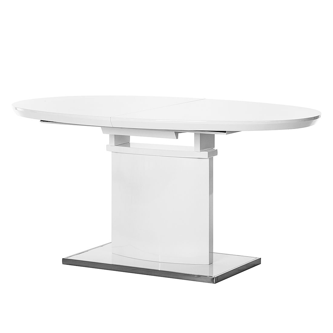 Table manger dorio extractible blanc brillant fredriks for Table extractible