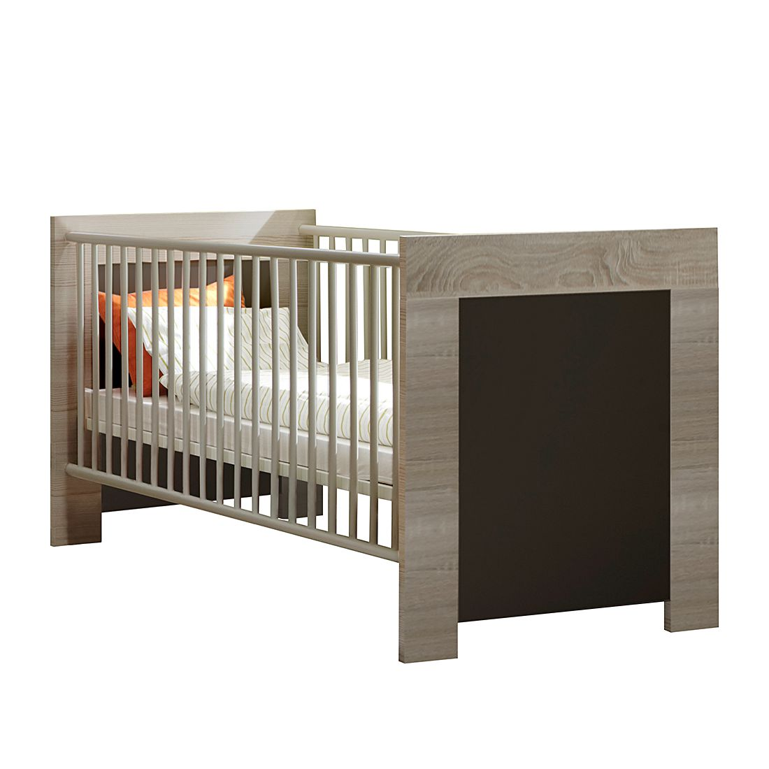 babybett emily eiche grau wimex m wi 001565 kauf dir. Black Bedroom Furniture Sets. Home Design Ideas