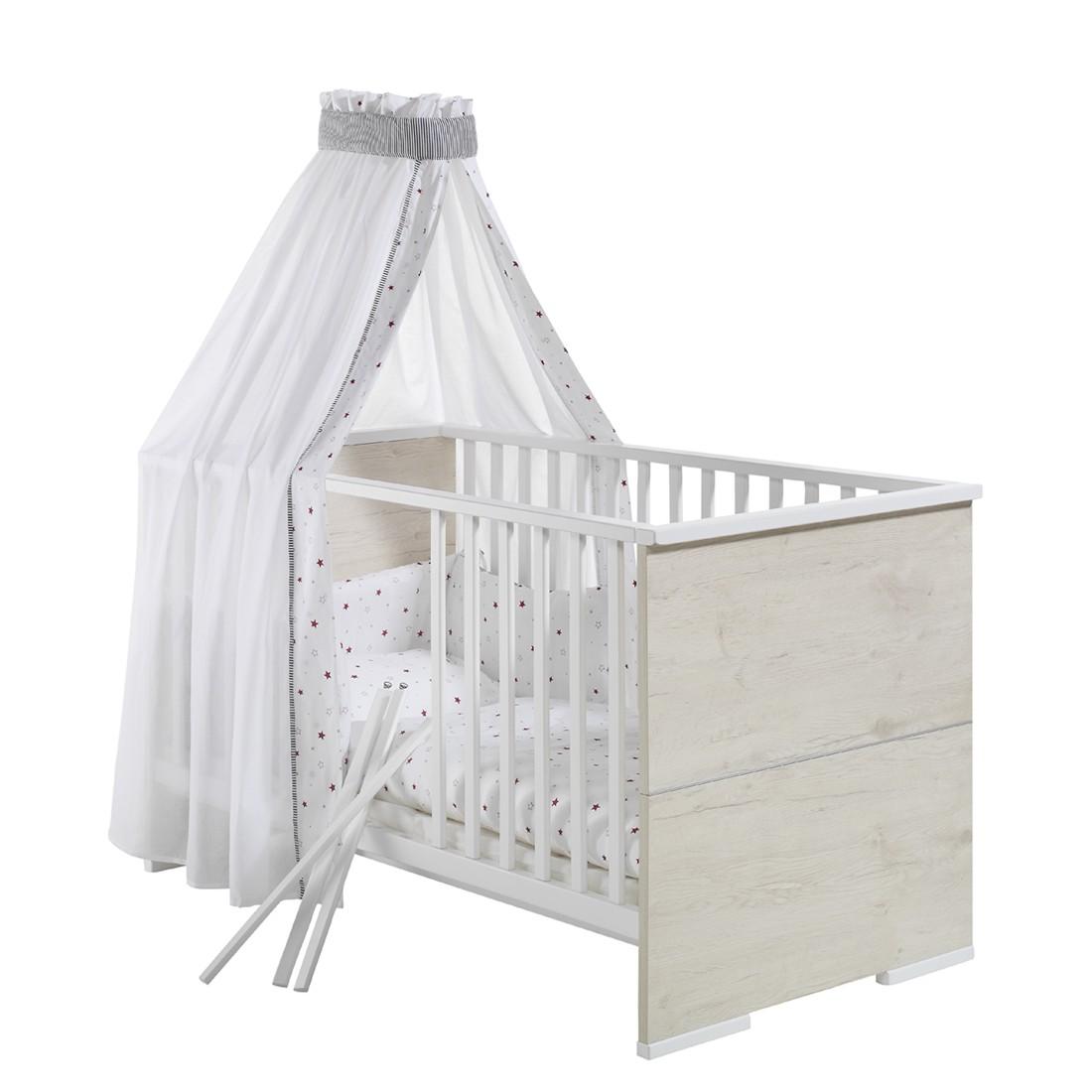 Babybett MAXIMO – Lancelot Oak / Weiß, Schardt günstig online kaufen