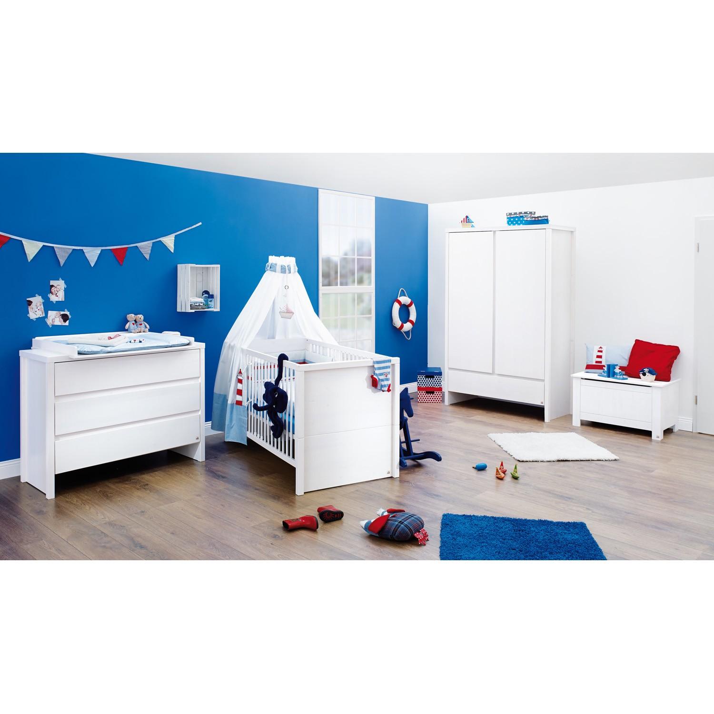 Babyzimmer Aura (3-teilig) - Fichte - Weiß - Lasiert, Pinolino