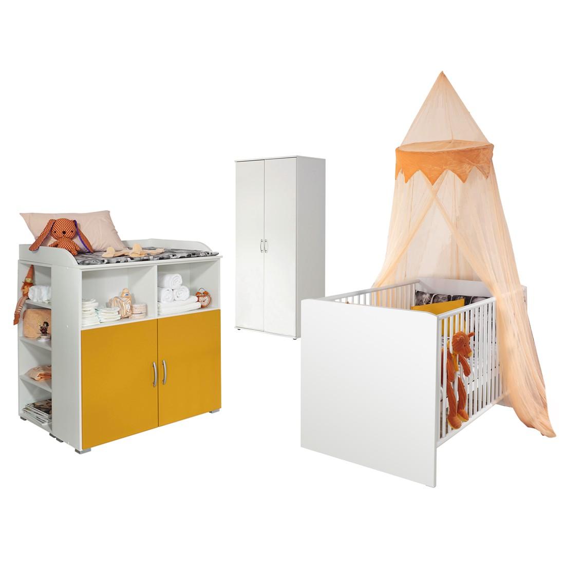 Babyzimmerkombination Daniele (3-tlg.) – Weiß / Gelb, Rauch Pack´s bestellen