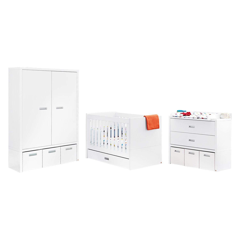 Babyzimmerkombination Enzo (3-teilig) - Weiß / Mehrfarbig, Pinolino