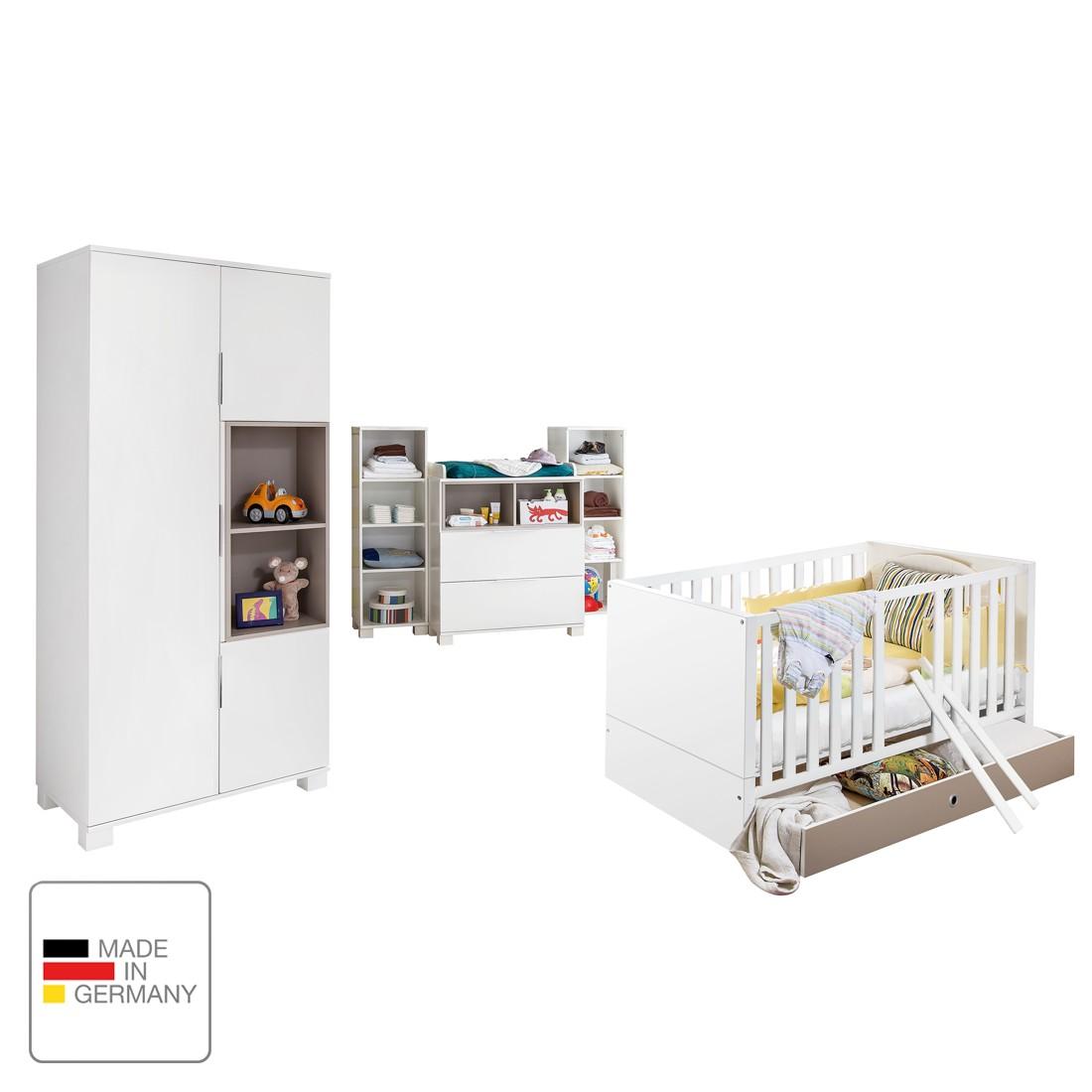 Babyzimmerkombination Joris I – Alpinweiß / Sandgrau, Wimex jetzt kaufen