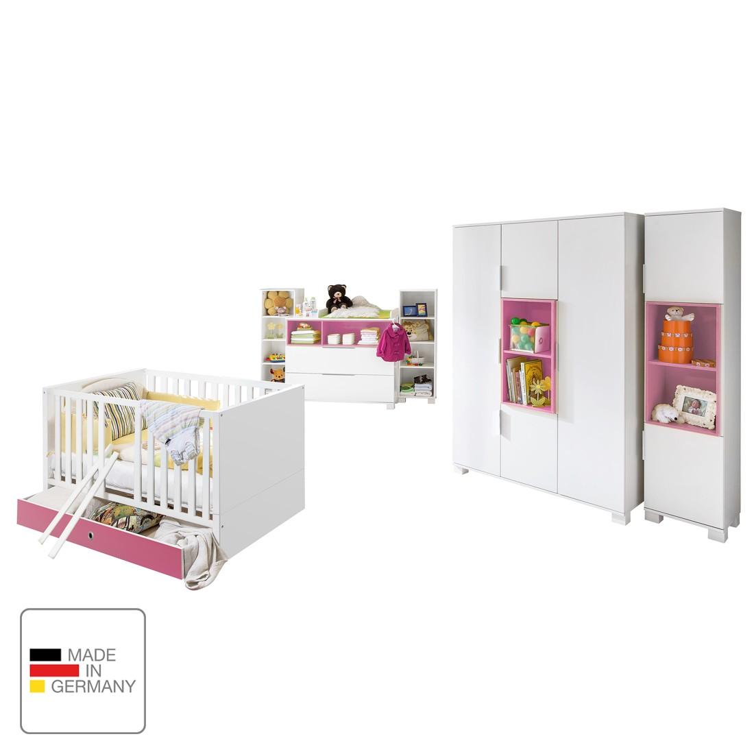 Babyzimmerkombination Joris II – Alpinweiß / Rosa, Wimex online kaufen