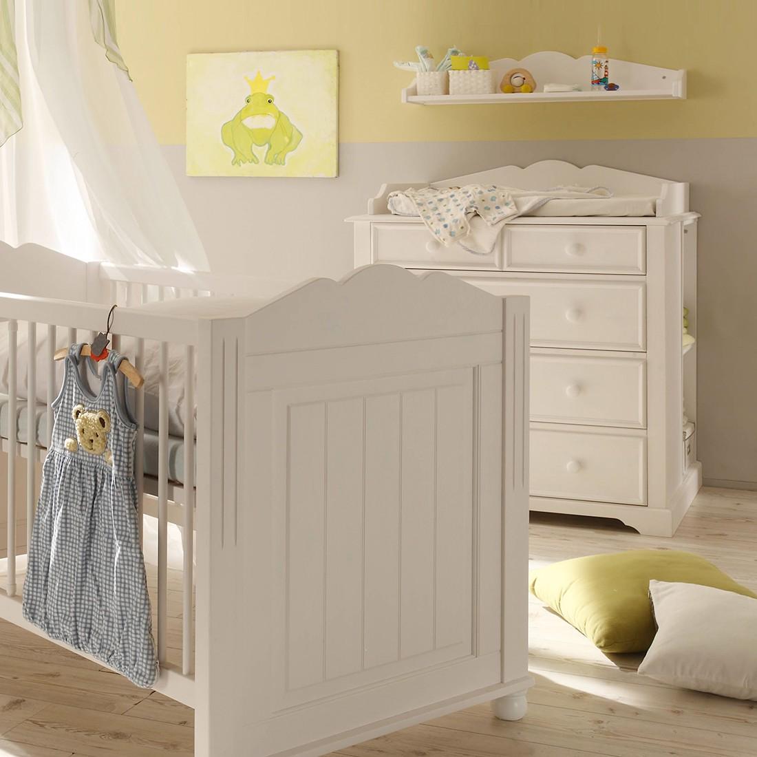 Babyzimmerset La Coquette (3-teilig) - Kiefer teilmassiv - Weiß, Jack and Alice