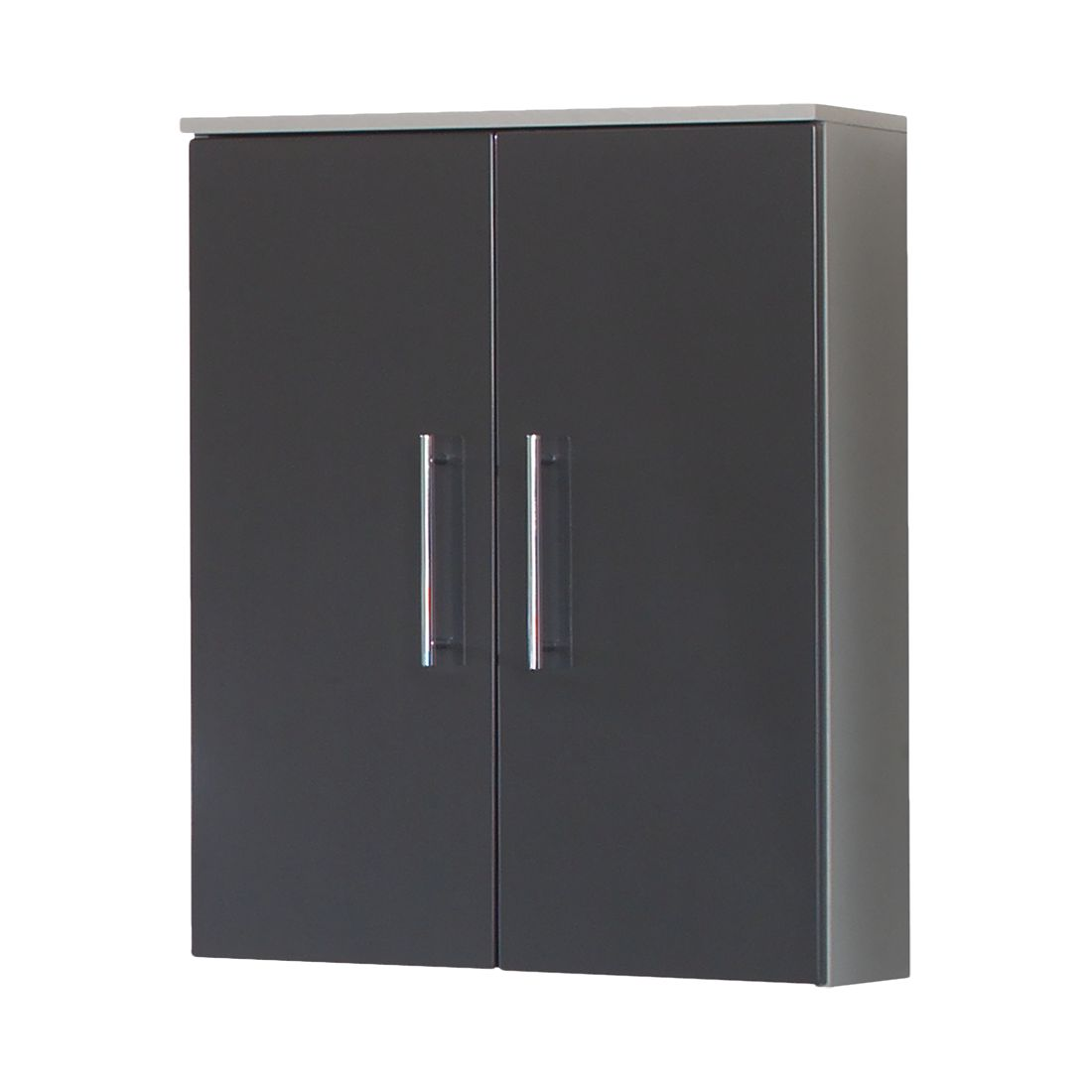 bad h ngeschrank poco mdf spanplatte anthrazit hochglanz silber modell 1. Black Bedroom Furniture Sets. Home Design Ideas