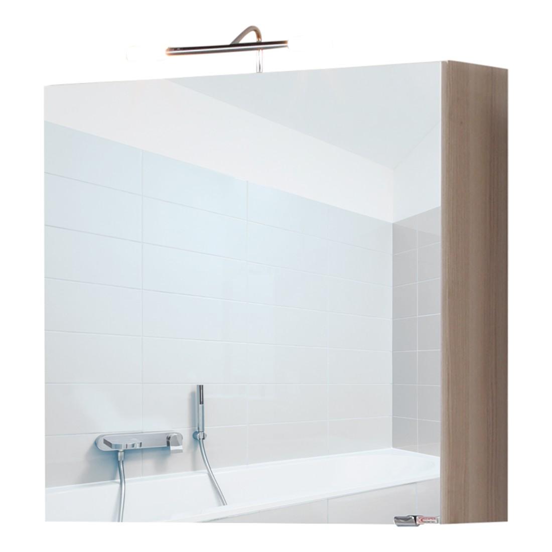 Bad-Spiegelschrank Madley - Esche Dekor - Mit Beleuchtung