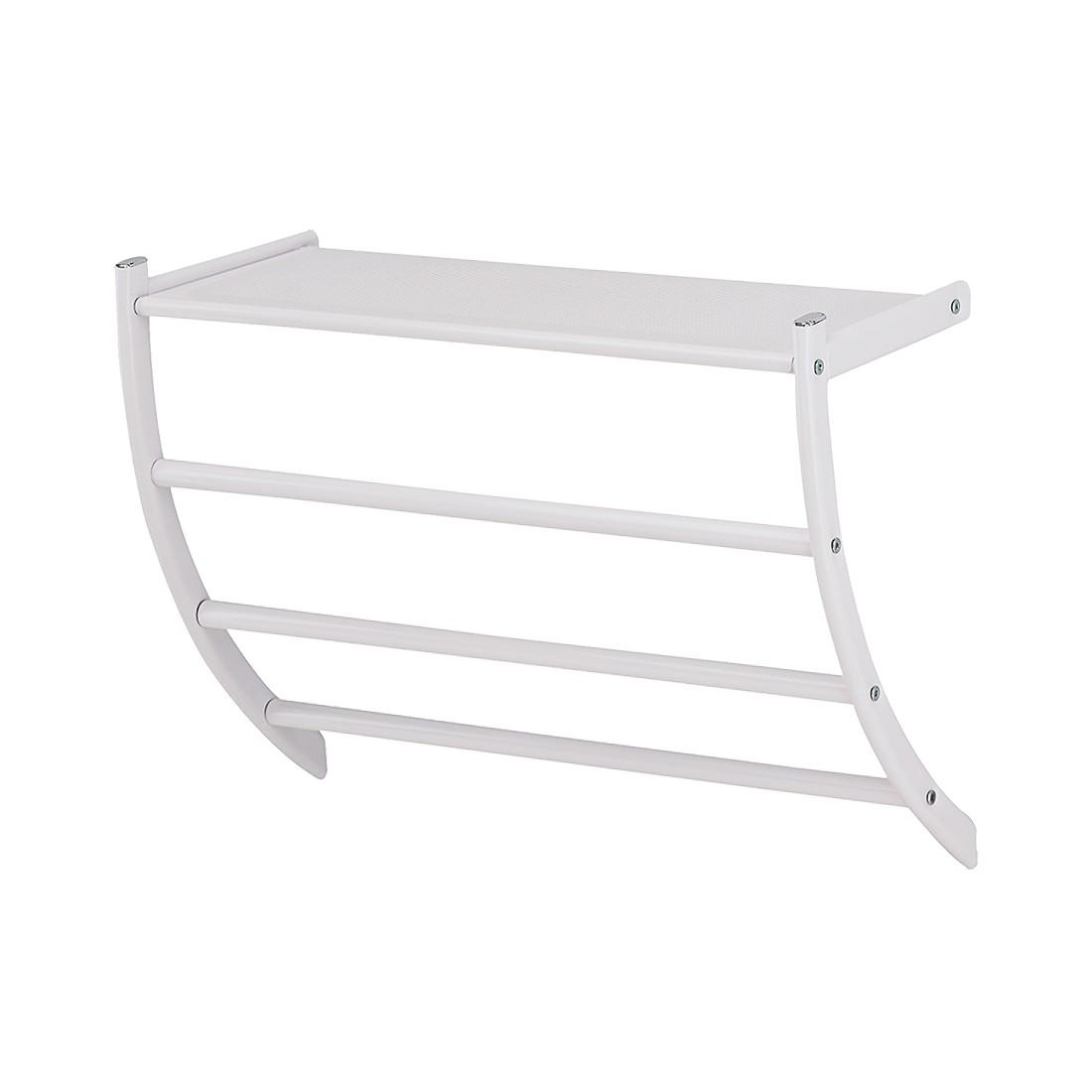 Bad-Wandregal – Weiß, mit Handtuchhalter, Sanwood günstig bestellen