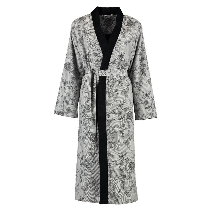 bademantel damen nickivelours flora 80 baumwolle 20 polyester grau gr e xl morgenstern. Black Bedroom Furniture Sets. Home Design Ideas