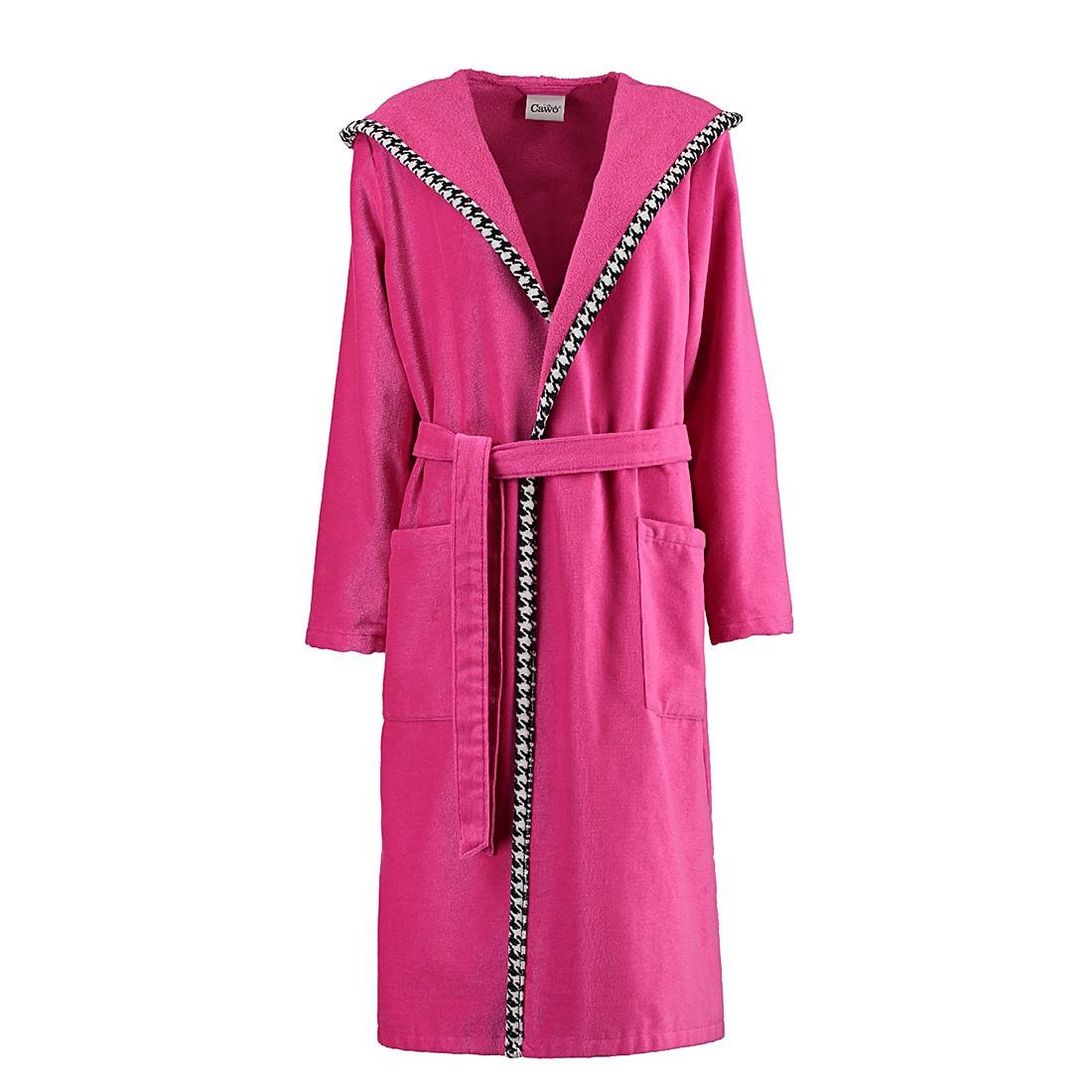 Bademäntel Damen Velours Black&White 1484 – Baumwolle – Pink – L, Cawö günstig kaufen