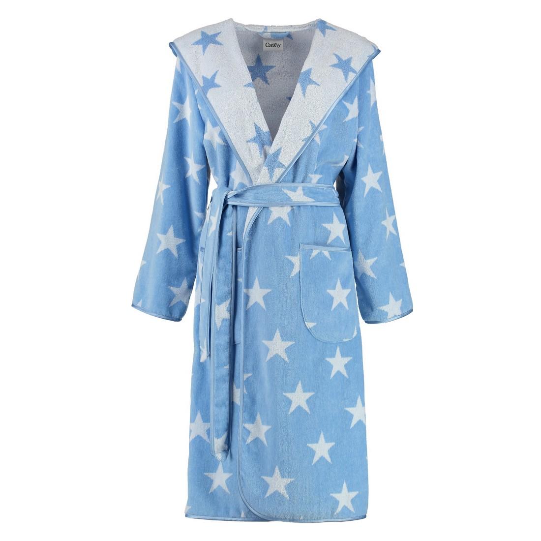Bademäntel Damen Velours Stars 5240 – 100% Baumwolle hellblau – 16 – L, Cawö jetzt kaufen