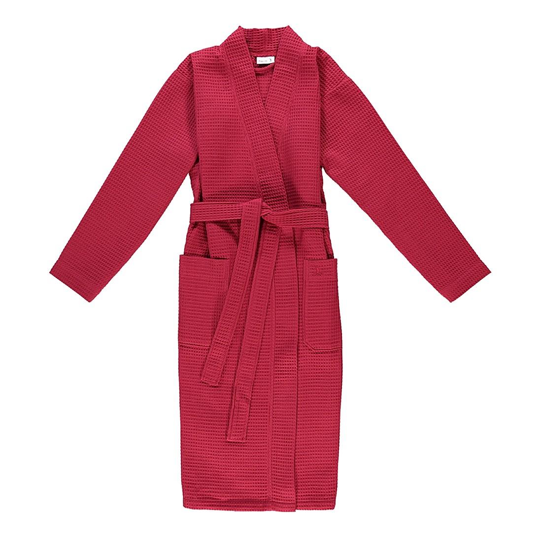 Bademantel unisex Pique Homewear – 100% Baumwolle ruby – 075 – Größe: S, Möve günstig online kaufen