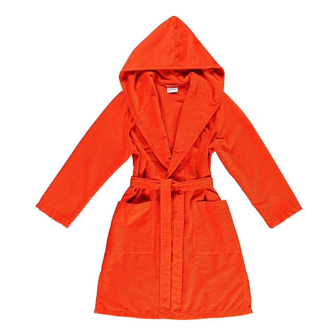 Bademantel 1307 – Damen – Velours – 100% Baumwolle Orange – 273 – Größe: M, Cawö kaufen