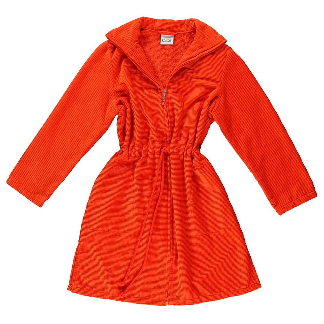 Bademantel 1308 – Damen – Velours – 100% Baumwolle Orange – 273 – Größe: XS, Cawö online bestellen