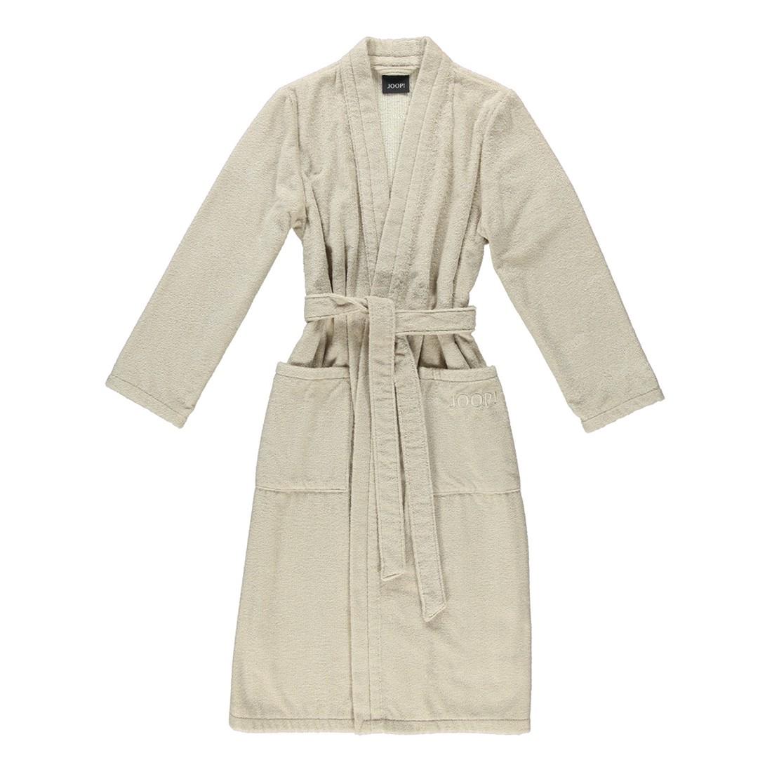 Bademantel 1616 Classic – Damen FRottier – 100% Baumwolle Sand – 30 – Größe: M, Joop günstig