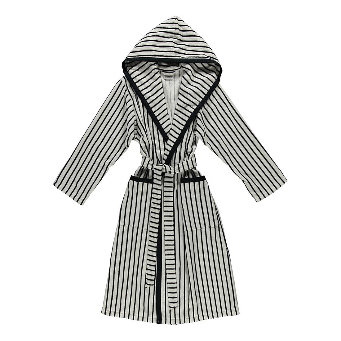 Bademantel 3441 – Damen – Velours – 100% Baumwolle Schwarz/Weiß – 96 – Größe: L, Cawö günstig kaufen