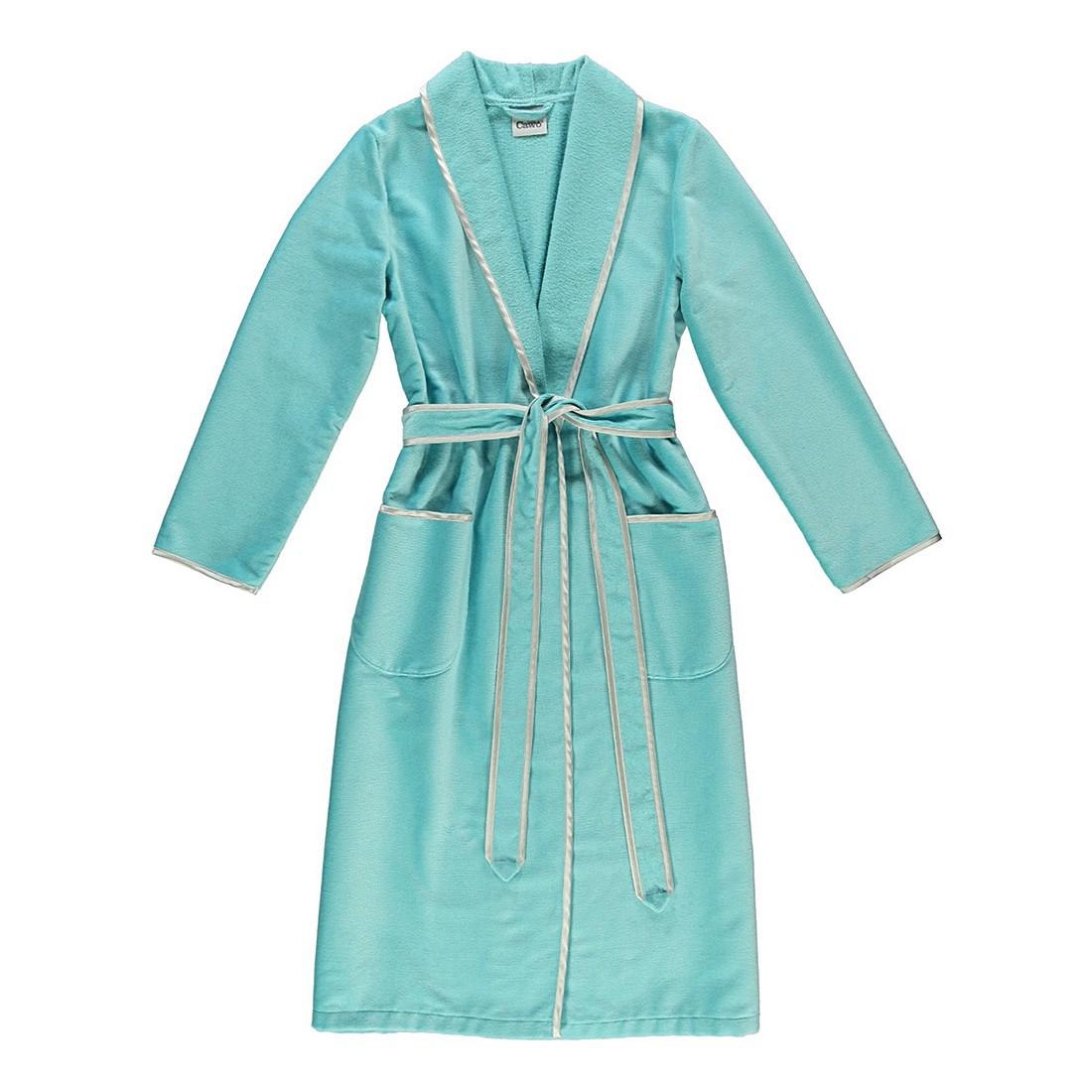 Bademantel 4321 – Damen – Velours – 100% Baumwolle mint – 404 – Größe: M, Cawö günstig kaufen