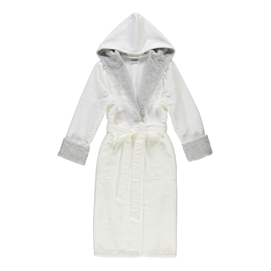 Bademantel 5221 – Damen FRottier – 100% Baumwolle Weiß/Silber – 600 – Größe: XL, Cawö günstig online kaufen