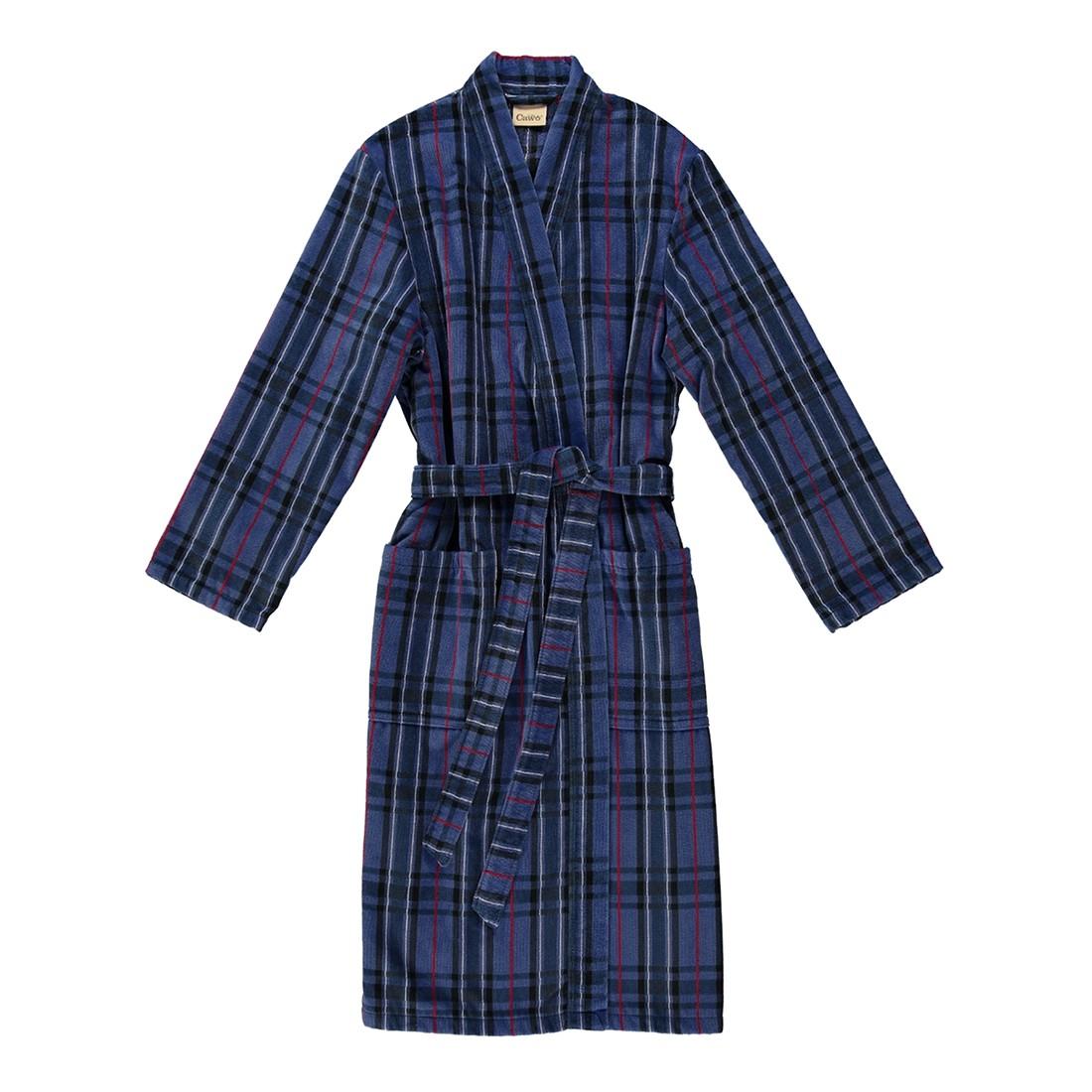 Bademantel 6893 – Herren Velours – 100% Baumwolle Blau – 11 – Größe: S, Cawö jetzt bestellen