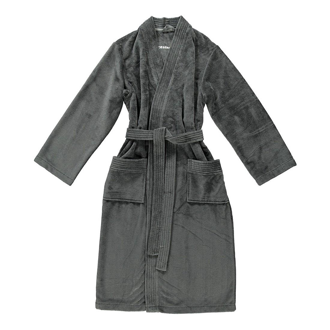 Bademantel Adam – Herren – Multifaser – 40% Polyester – 30% Baumwolle – 30% Viskose – Anthrazit – Größe: XL, Morgenstern günstig online kaufen