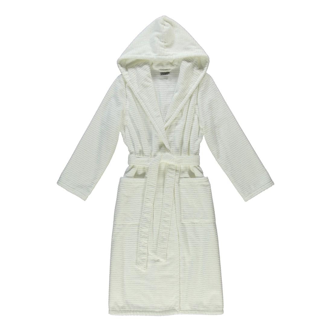 Bademantel Contour 1231 – Damen – 100% Baumwolle Weiß – 600 – Größe: L, Cawö kaufen