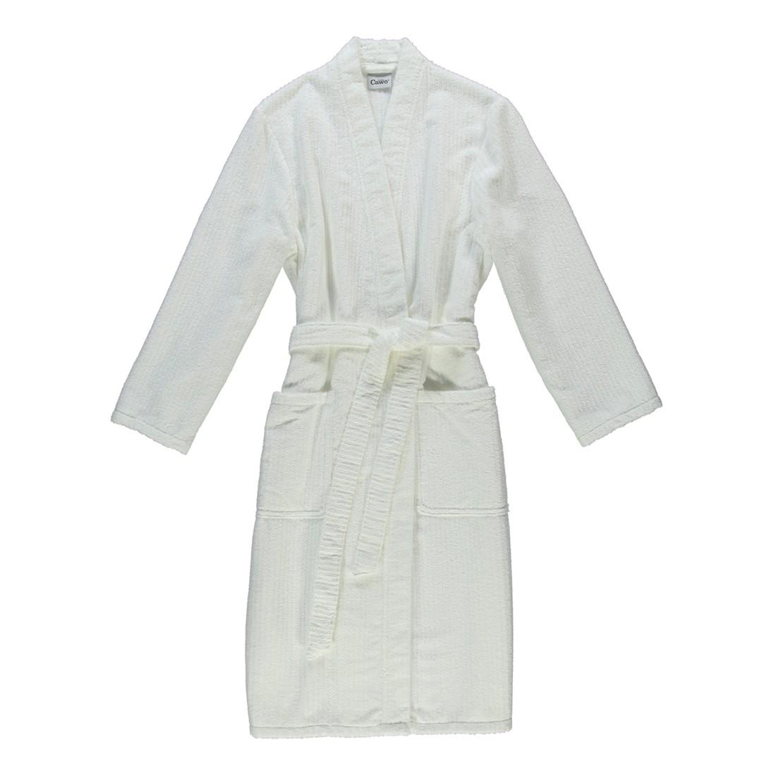 Bademantel Contour 1632 – Herren – 100% Baumwolle Weiß – 600 – Größe: L, Cawö günstig
