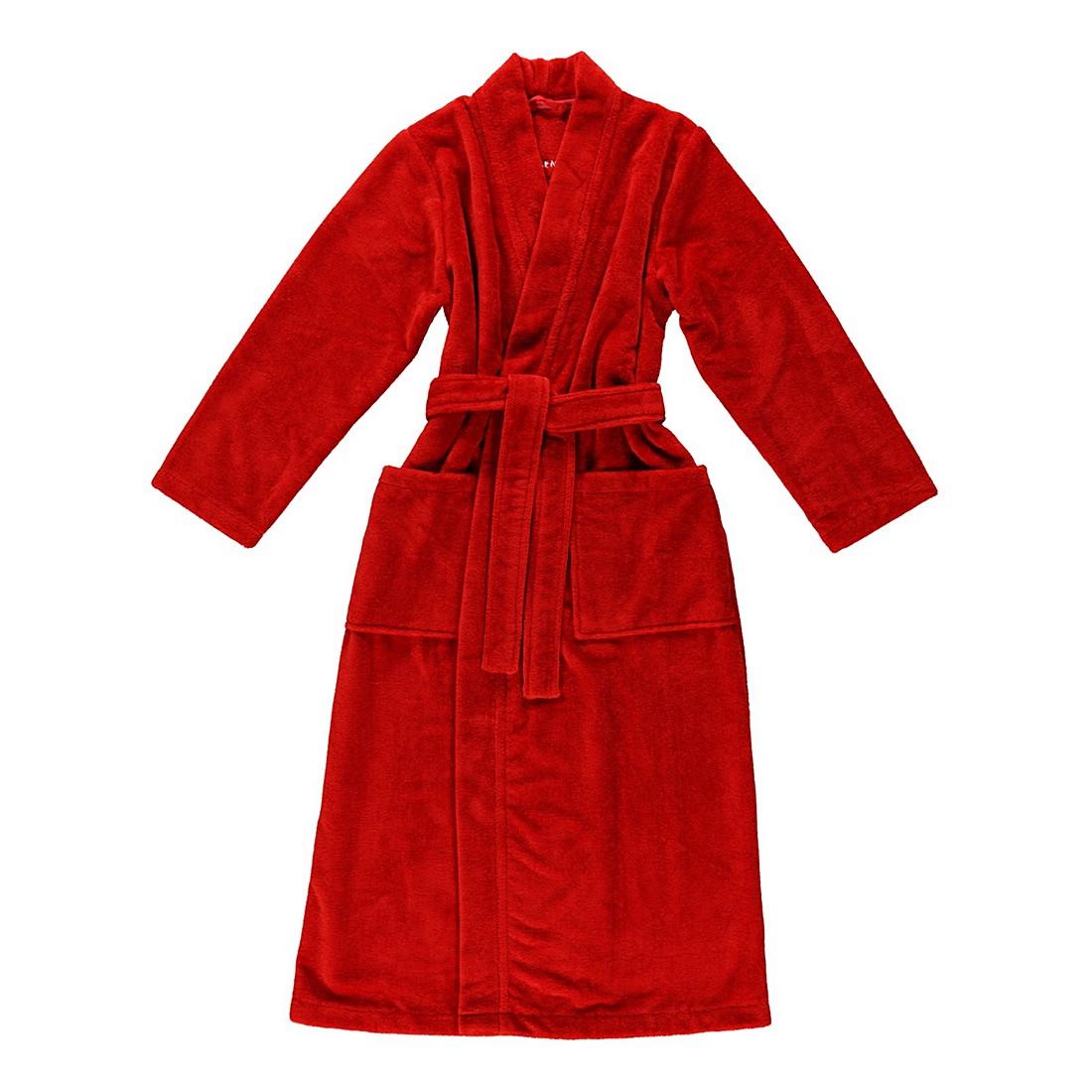 Bademantel Eva – Damen – Multifaser – 40% Polyester – 30% Baumwolle – 30% Viskose Rot – Größe: L, Morgenstern online kaufen