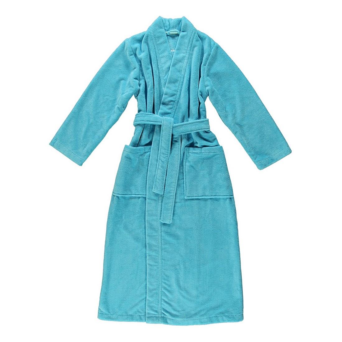 Bademantel Eva – Damen – Multifaser – 40% Polyester – 30% Baumwolle – 30% Viskose – Türkis – Größe: XL, Morgenstern jetzt bestellen