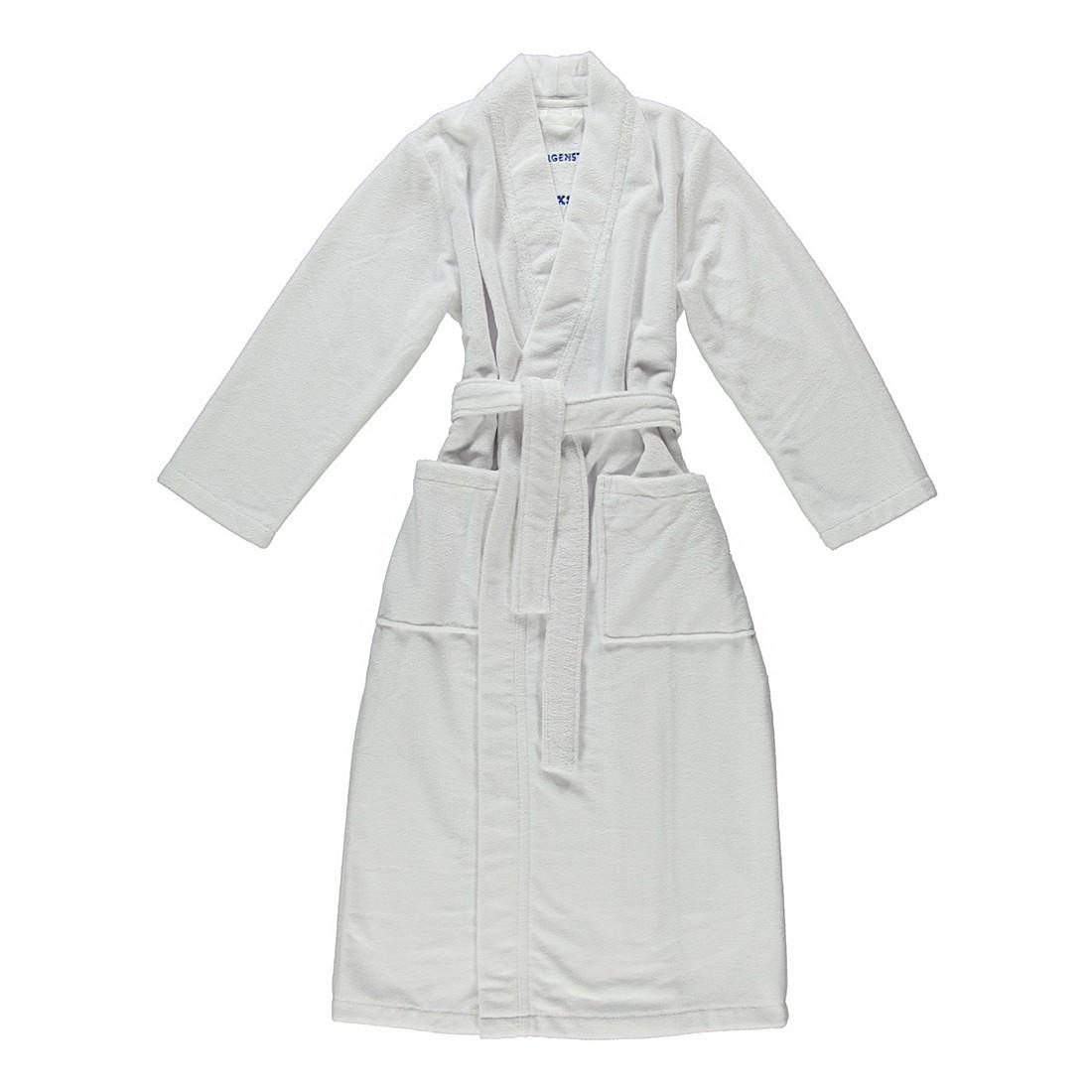 Bademantel Eva – Damen – Multifaser – 40% Polyester – 30% Baumwolle – 30% Viskose Weiß – Größe: M, Morgenstern online bestellen