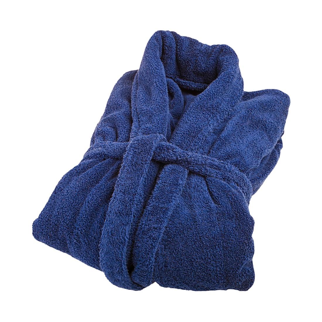 Bademantel FEEL – 100% Baumwolle – Royalblau – Größe: L, stilana jetzt kaufen