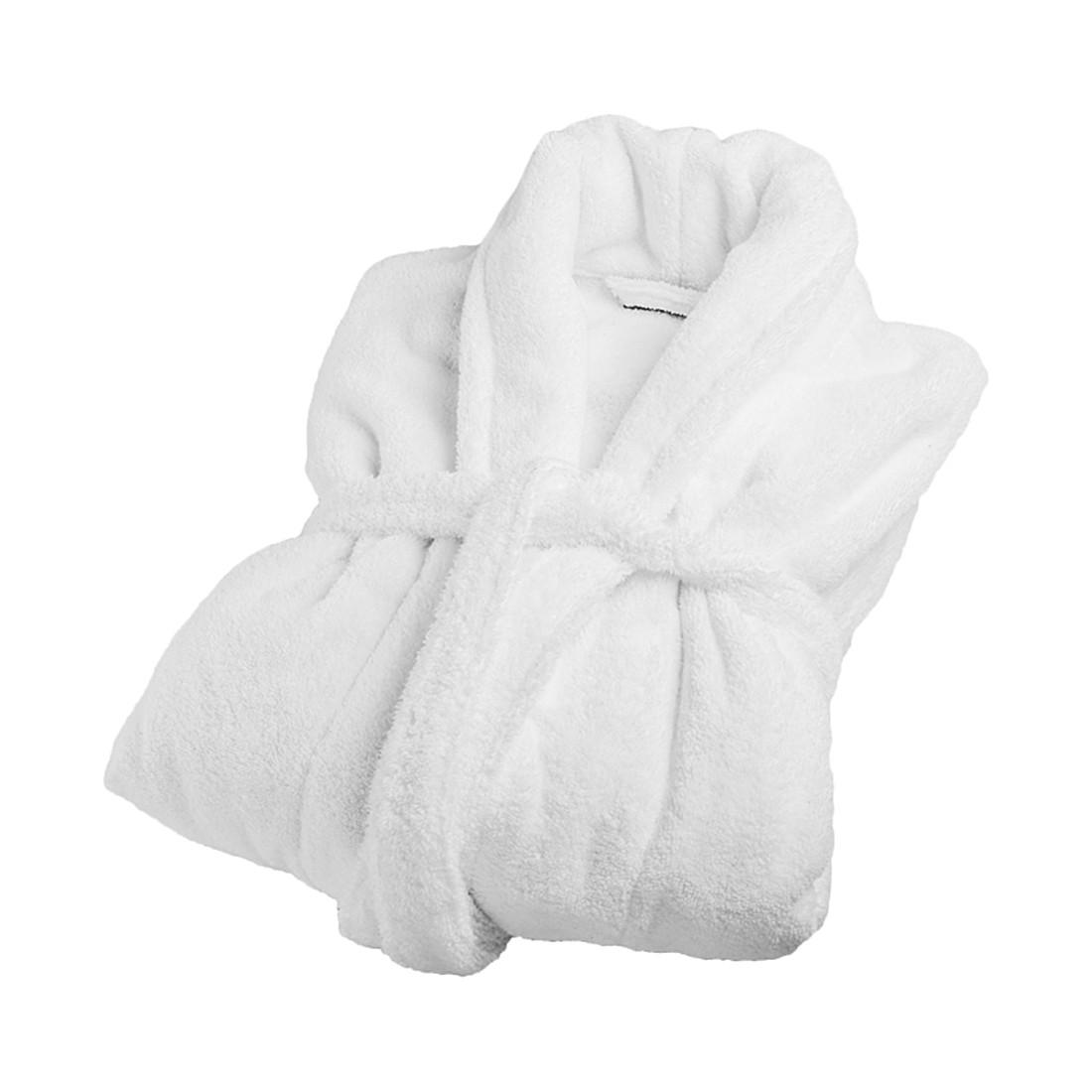 Bademantel FEEL – 100% Baumwolle – Weiß – Größe: M, stilana günstig online kaufen
