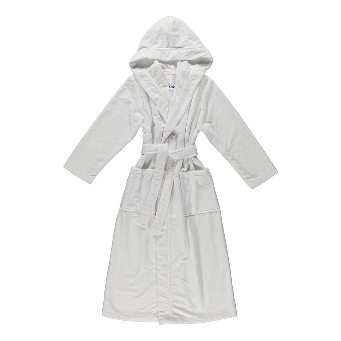 Bademantel Geena – Damen – Multifaser – 40% Polyester – 30% Baumwolle – 30% Viskose Weiß – Größe: L, Morgenstern günstig