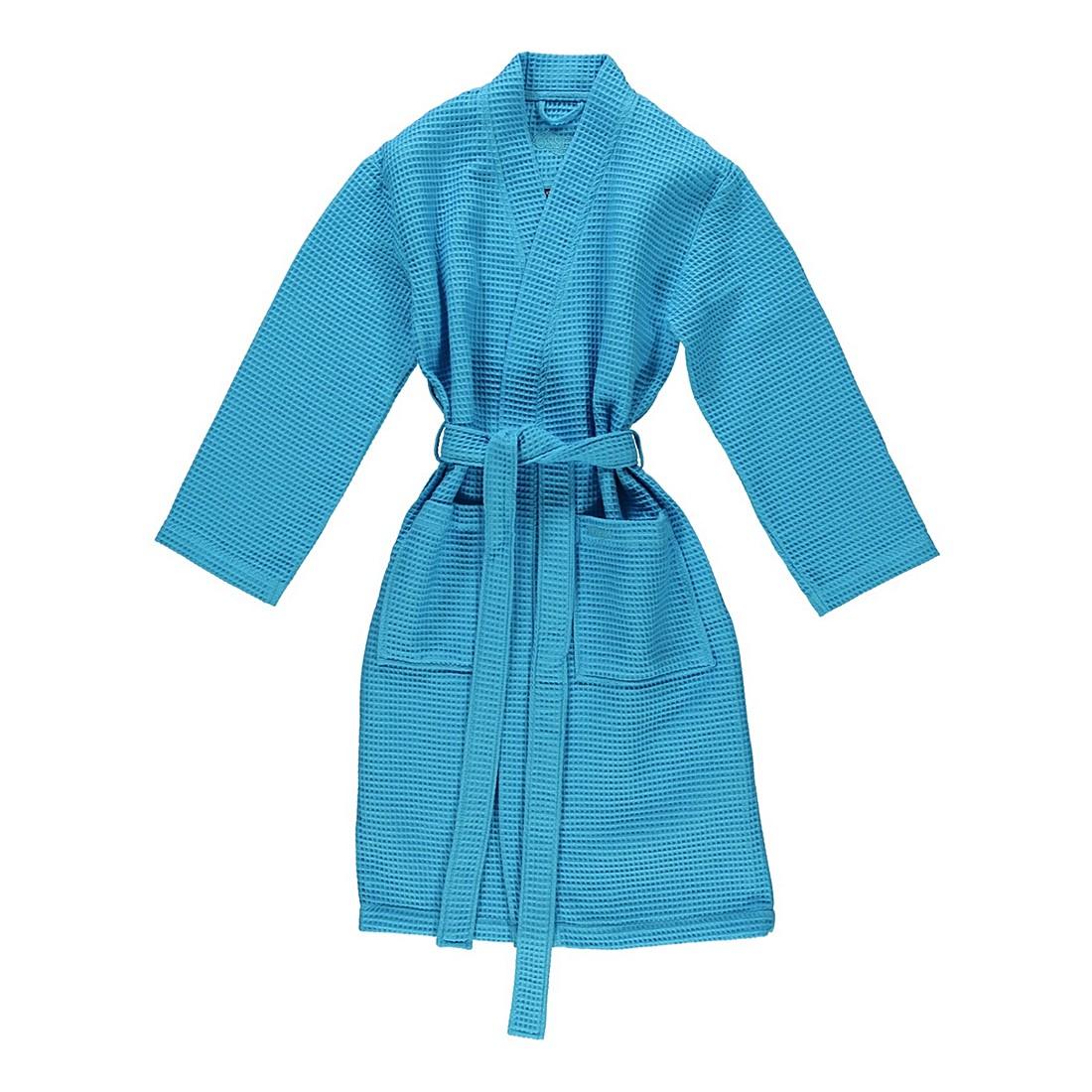 Bademantel unisex Pique Rom – 100% Baumwolle turquoise – 557 – Größe: S, Vossen günstig