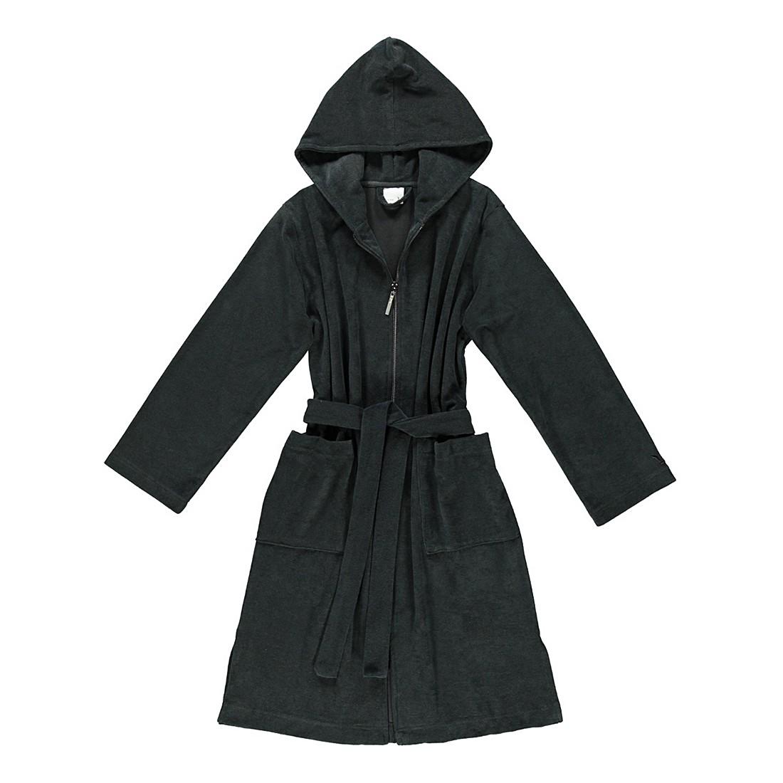 Bademantel Reißverschluss – unisex – FRottier – 80% Baumwolle – 20% Polyester black – 199 – Größe: XS, Möve jetzt kaufen
