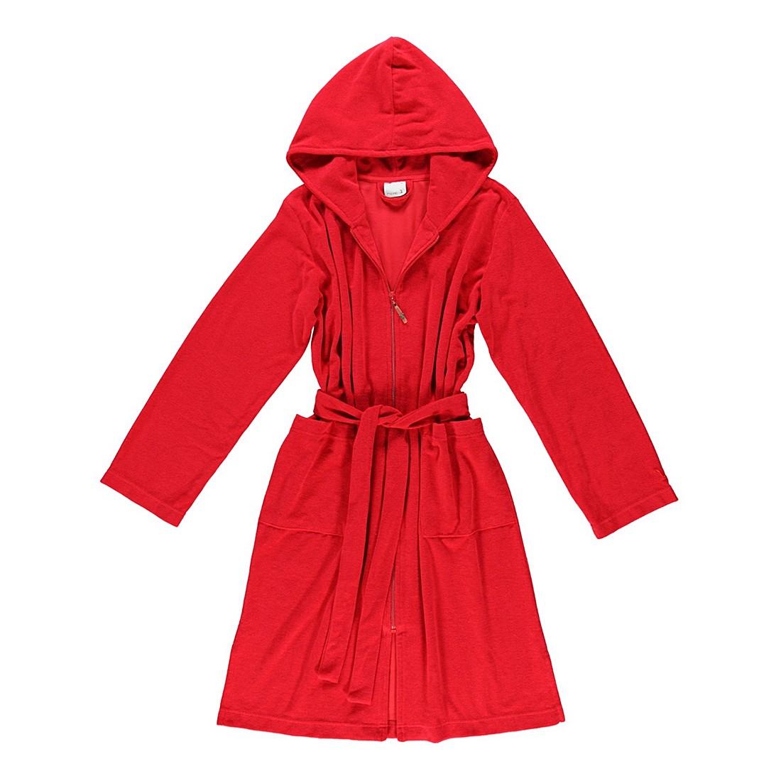 Bademantel Reißverschluss – unisex – FRottier – 80% Baumwolle – 20% Polyester ketchup – 256 – Größe: L, Möve günstig kaufen