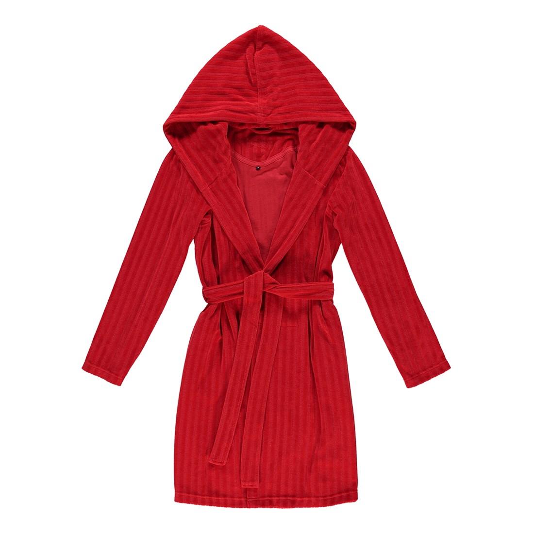 Bademantel Ruby – Damen Velours – 80% Baumwolle, 20% Polyester Purpur – 3705 – Größe: XS, Vossen günstig online kaufen