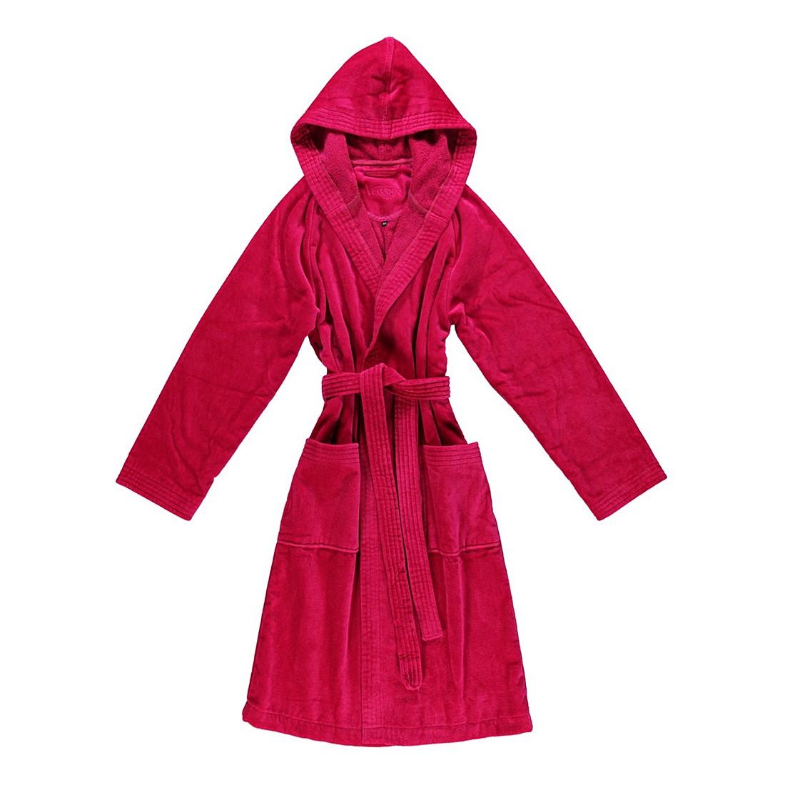 Bademantel Texas – Damen – Velours – 100% Baumwolle cranberry – 377 – Größe: L, Vossen günstig online kaufen