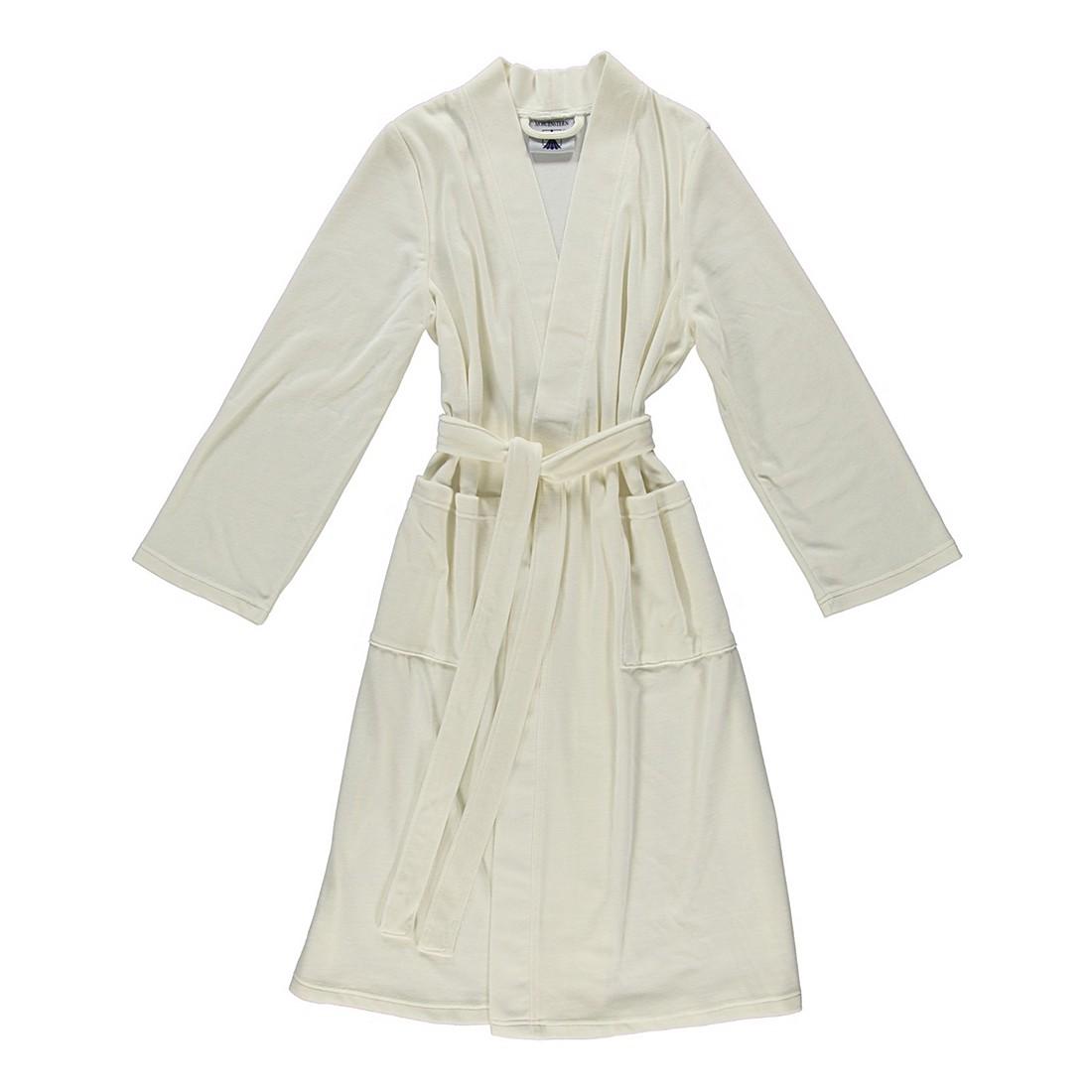 Bademantel Theresa – Damen – Nickivelours – 80% Baumwolle – 20% Polyester Creme – Größe: XL, Morgenstern günstig