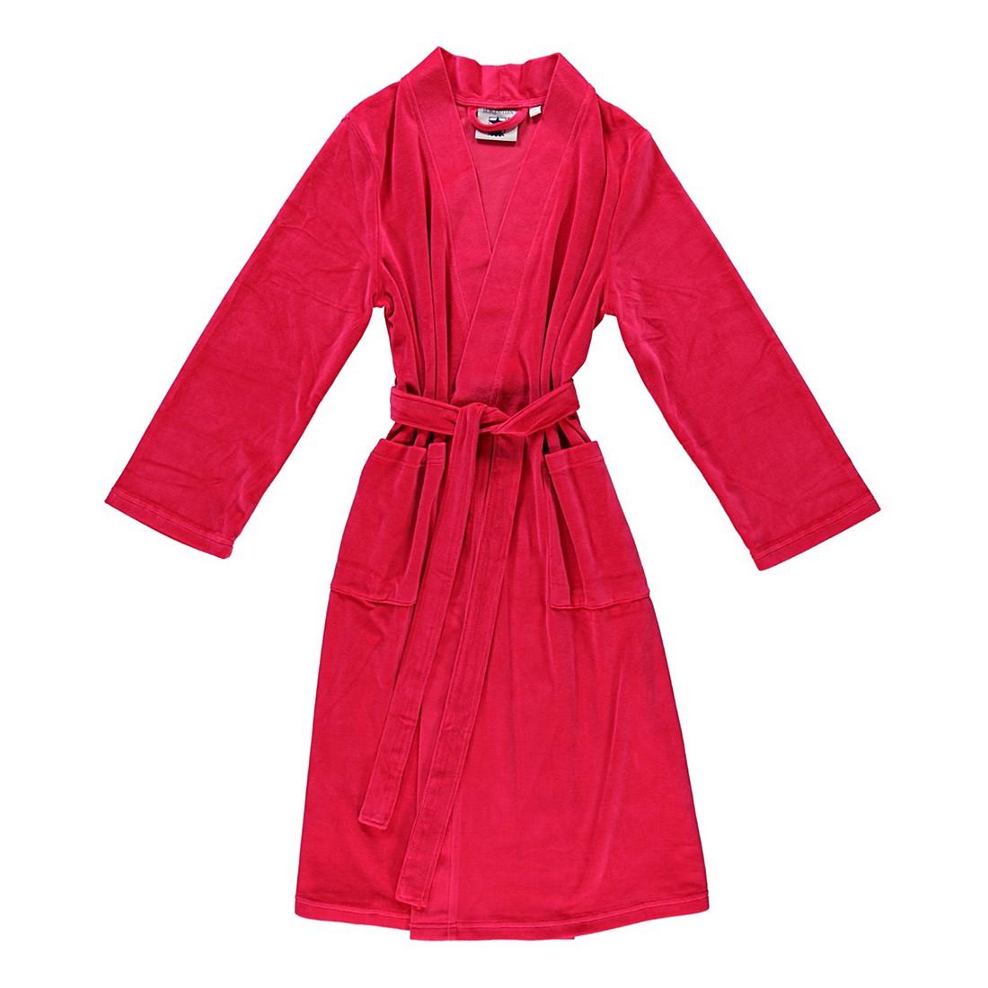 Bademantel Theresa – Damen – Nickivelours – 80% Baumwolle – 20% Polyester Pink – Größe: M, Morgenstern günstig
