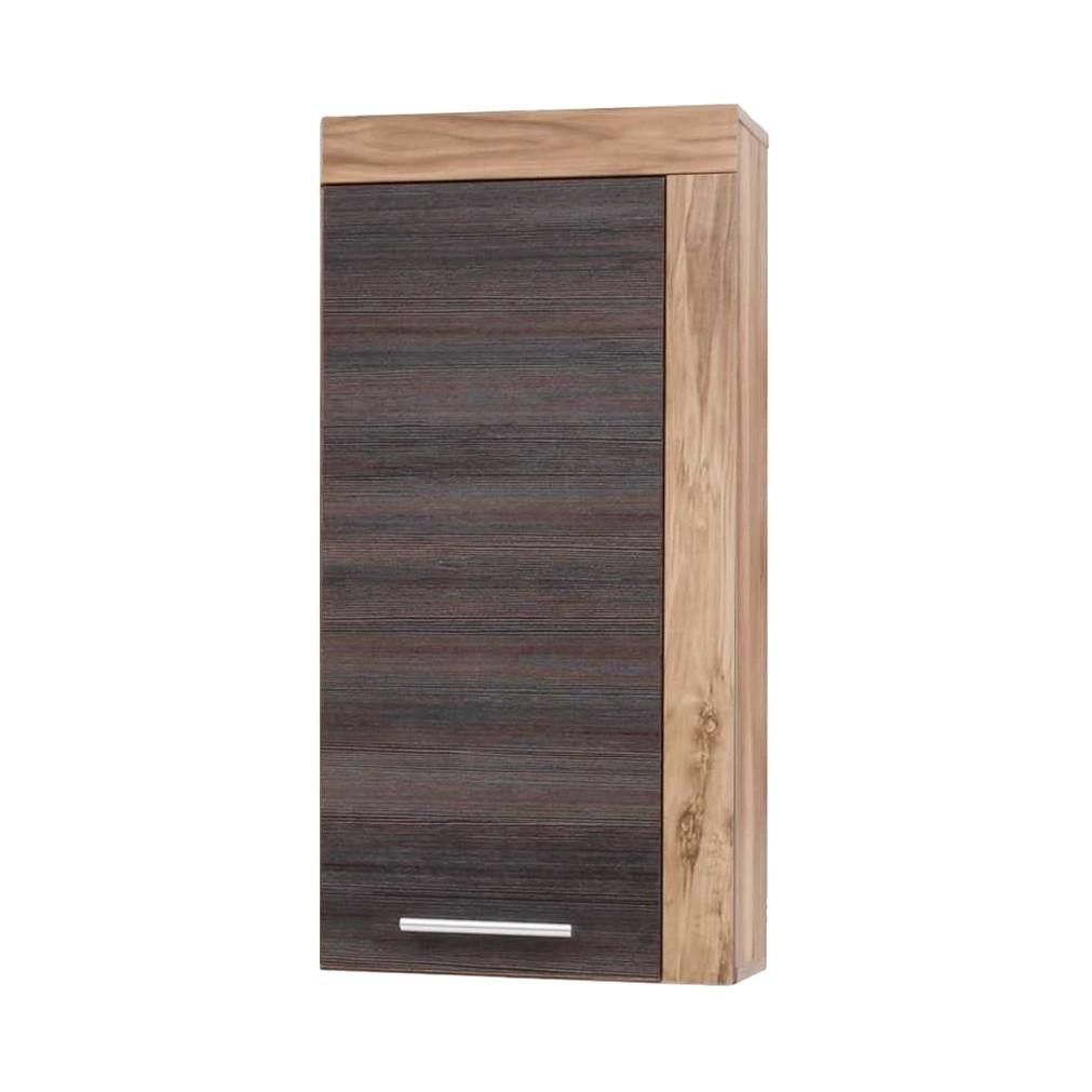 Badezimmer Hängeschrank Frisata – Nussbaum Satin/Braun Touchwood Dekor, Violata Furniture kaufen