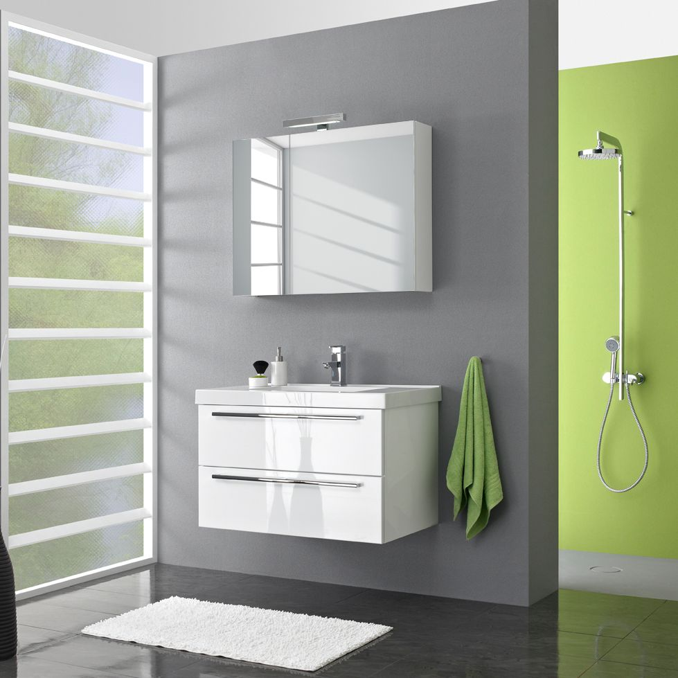 Badezimmer-Set Kodiak (5-teilig) - Hochglanz Weiß, Pelipal
